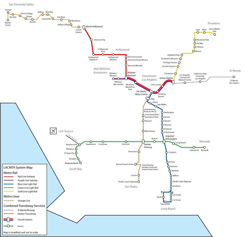 LACMTA System Map