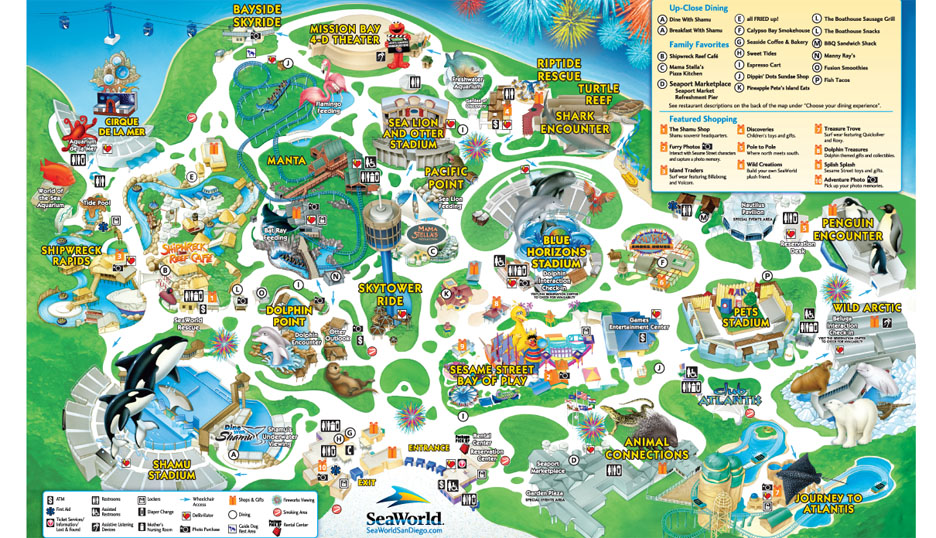 SeaWorld San Diego Map