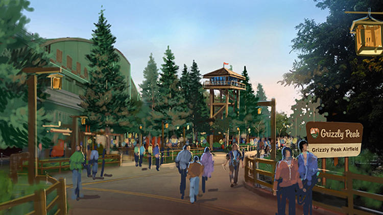Concept art of the new Grizzly Peak Airfield